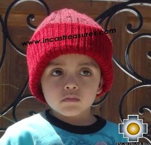 Alpaca Children Reversible hat Yawar -  Product id: Alpaca-children-Hats13-08 Photo03