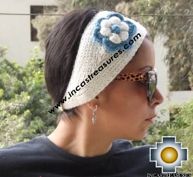 Alpaca Headband Flower White