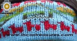Alpaca Headband Andean Design skyblue -  Product id: Alpaca-Headband10-05 Photo03