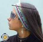 Alpaca Headband Andean Design skyblue -  Product id: Alpaca-Headband10-05 Photo01