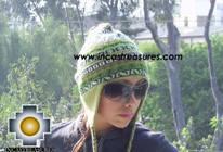 Chullo Hat Andean Design cactus -  Product id: Alpaca-Hats09-20 Photo02