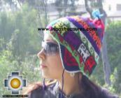 Chullo Hat Andean Design Huancavelica -  Product id: Alpaca-Hats09-16 Photo01