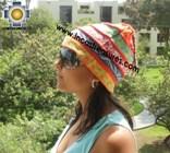 100% alpaca Winter Hat andenes orange  -  Product id: Alpaca-Hats12-07 Photo03