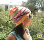 100% alpaca Winter Hat andenes orange  -  Product id: Alpaca-Hats12-07 Photo01