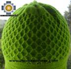 Alpaca Wool Hat Arawi green, solid Color Chullo - available in 14 colors - Product id: Alpaca-Hats09-33 Photo02