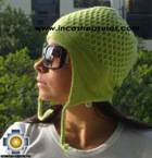 Alpaca Wool Hat Arawi limegreen, solid Color Chullo - available in 14 colors - Product id: Alpaca-Hats09-34 Photo03