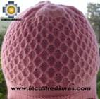 Alpaca Wool Hat Arawi pink, solid Color Chullo - available in 14 colors - Product id: Alpaca-Hats09-36 Photo02
