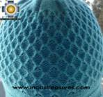 Alpaca Wool Hat Arawi skyblue, solid Color Chullo - available in 14 colors - Product id: Alpaca-Hats09-39 Photo02