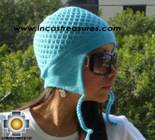 Alpaca Wool Hat Arawi skyblue, solid Color Chullo - available in 14 colors - Product id: Alpaca-Hats09-39 Photo01