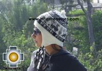 Alpaca Wool Hat Classic Design peru tullu -  Product id: Alpaca-Hats09-14 Photo01
