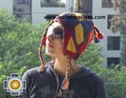 Alpaca Wool Hat Geometric Design Earth -  Product id: Alpaca-Hats09-21 Photo02