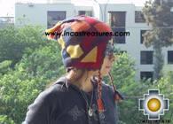 Alpaca Wool Hat Geometric Design Earth -  Product id: Alpaca-Hats09-21 Photo01