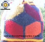 Alpaca Wool Hat Geometric Design fire -  Product id: Alpaca-Hats09-22 Photo03