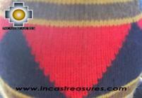 Alpaca Wool Hat Geometric Design water -  Product id: Alpaca-Hats09-23 Photo03