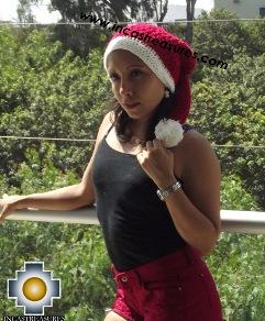 Alpaca Winter Hat Happy Christmas - 100% Alpaca