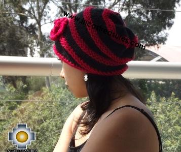 Alpaca Wool Hat Red Spring- 100% Alpaca