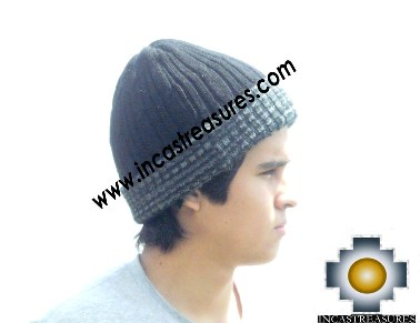 Alpaca Winter Hat reversible Deep Blue Extra Soft - Product id: Alpaca-Hats12-14 Photo03