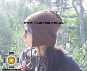 100% Alpaca Wool Hat solid Color Chullo - available in 12 colors - Product id: 100Alpaca-Hats09-06 Photo01