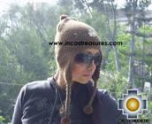 Alpaca Wool Hat with Embroidery Kantuta chaxcra  - Product id: Alpaca-Hats09-04 Photo02