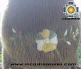 Alpaca Wool Hat with Embroidery Kantuta chaxcra  - Product id: Alpaca-Hats09-04 Photo03