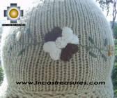 Alpaca Wool Hat with Embroidery Kantuta tiwu  - Product id: Alpaca-Hats09-03 Photo03