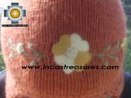 Alpaca Wool Hat with Embroidery Kantuta willapi  - Product id: Alpaca-Hats09-02 Photo03