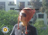 Alpaca Wool Hat with Embroidery Kantuta willapi  - Product id: Alpaca-Hats09-02 Photo01