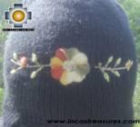 Alpaca Wool Hat with Embroidery Kantuta Yana  - Product id: Alpaca-Hats09-01 Photo04
