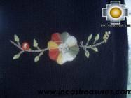 Alpaca Wool Hat with Embroidery Kantuta Yana  - Product id: Alpaca-Hats09-01 Photo01