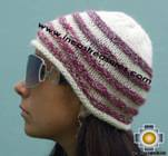 Alpaca Wool Hat worms marbling -  Product id: Alpaca-Hats09-44 Photo02