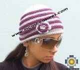 Alpaca Wool Hat worms purple -  Product id: Alpaca-Hats09-45 Photo03
