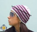 Alpaca Wool Hat worms purple -  Product id: Alpaca-Hats09-45 Photo02