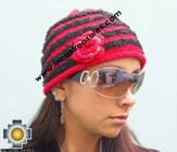 Alpaca Wool Hat worms red -  Product id: Alpaca-Hats09-46 Photo03