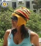 100% alpaca Winter Hat andenes yellow  -  Product id: Alpaca-Hats12-05 Photo02