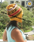 100% alpaca Winter Hat andenes yellow  -  Product id: Alpaca-Hats12-05 Photo01