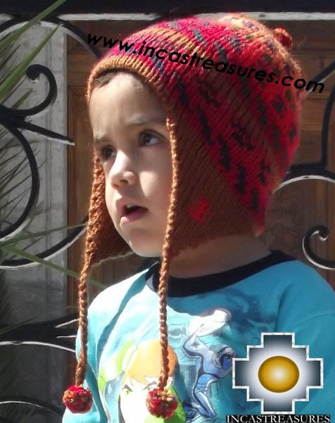 Alpaca Children Hat red-dawn -  Product id: Alpaca-children-Hats13-05