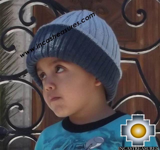 Alpaca Children Reversible Hat Clouds -  Product id: Alpaca-children-Hats13-07