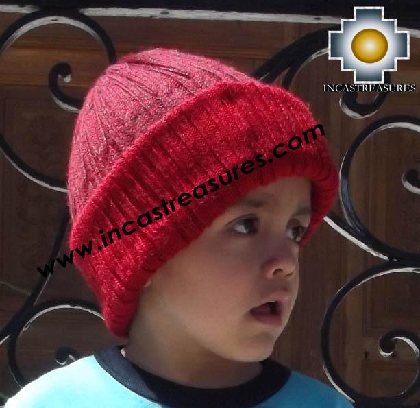 Alpaca Children Reversible hat Yawar -  Product id: Alpaca-children-Hats13-08