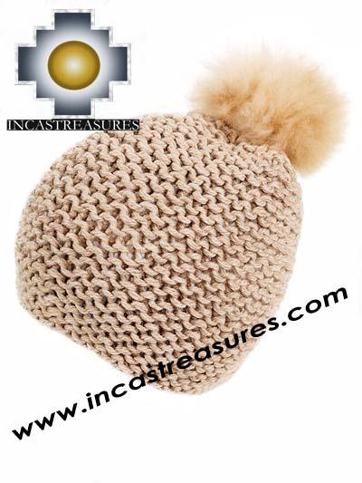 Alpaca Fur Pom Poms for hats - Example