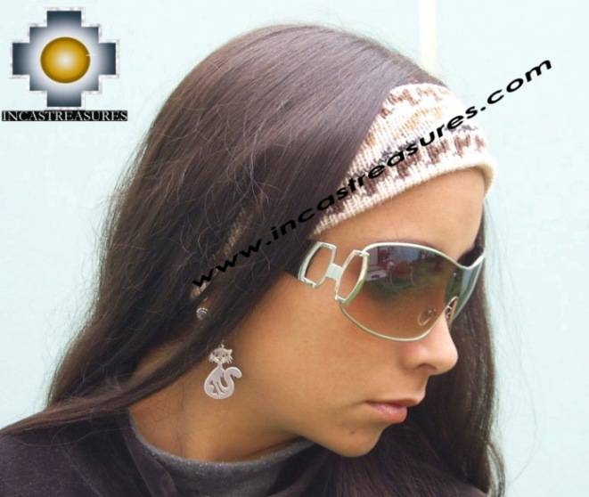 Alpaca Headband Andean Design Cream -  Product id: Alpaca-Headband10-01
