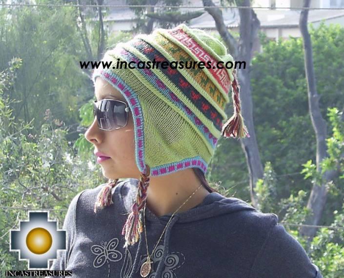 Chullo Hat Andean Design andenes -  Product id: Alpaca-Hats09-19