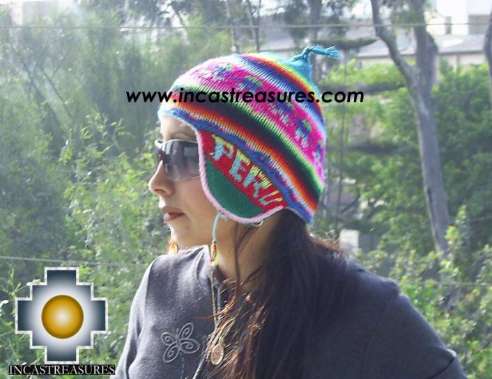 Chullo Hat Andean Design juliaca-peru -  Product id: Alpaca-Hats09-18
