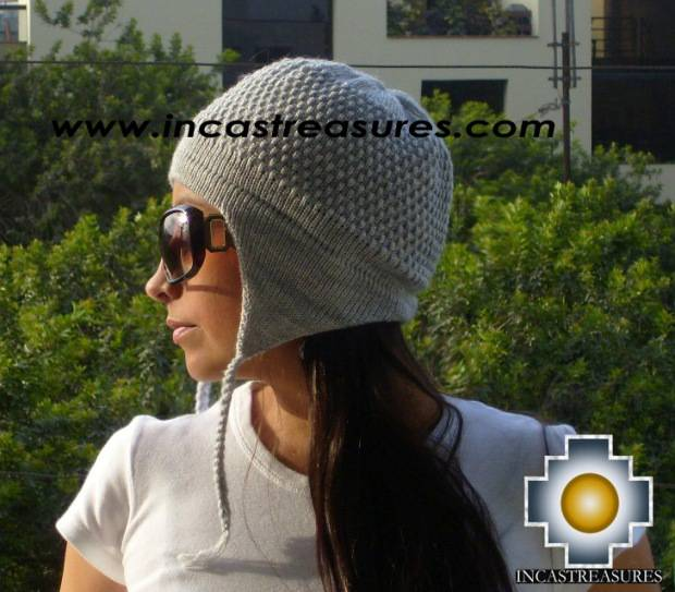 Alpaca wool hat arawi Silvergray, solid color
