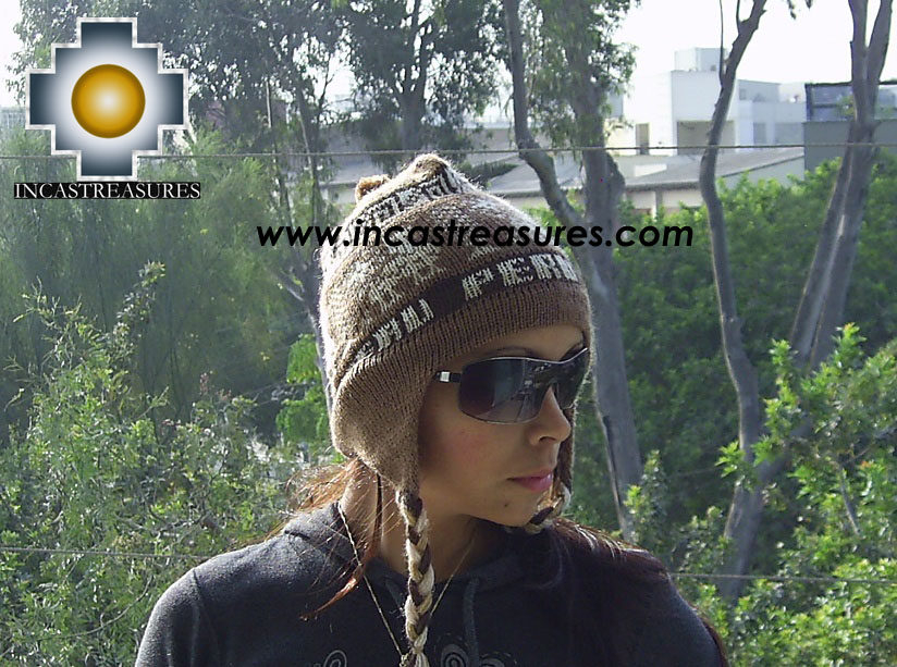 Alpaca Wool Hat Classic Design peru earth - Product id: Alpaca-Hats09-10