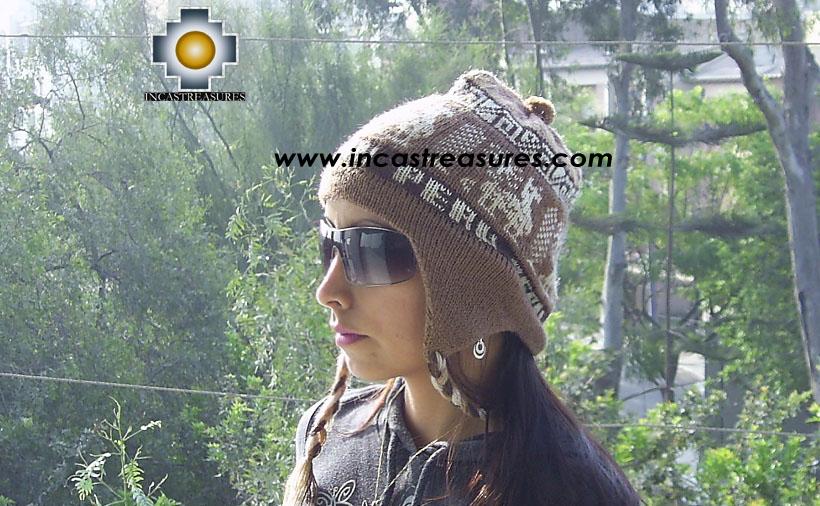 Alpaca Wool Hat Classic Design peru earth -  Product id: Alpaca-Hats09-10 Photo01