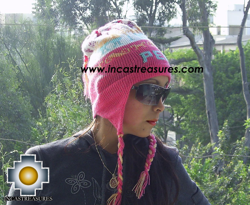 Alpaca Wool Hat Clasic design Peru Pukayay