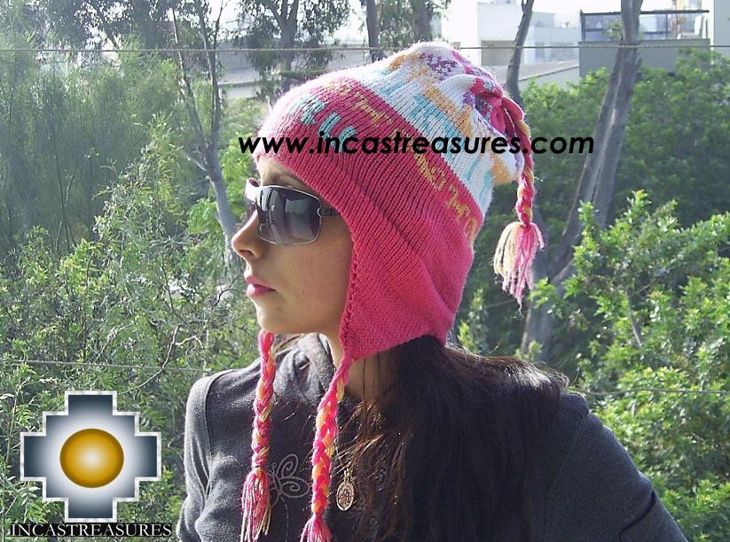 Alpaca Wool Hat Classic Design peru pukayay -  Product id: Alpaca-Hats09-12 Photo01