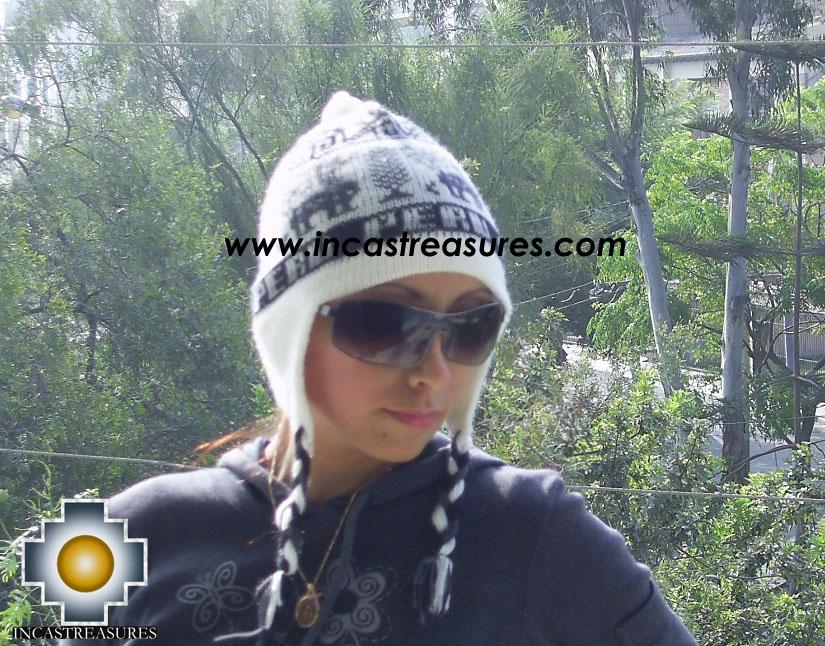 Alpaca Wool Hat Clasic design Peru Tullu