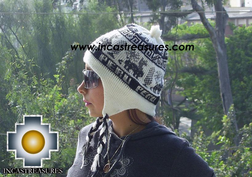 Alpaca Wool Hat Classic Design peru tullu - Product id: Alpaca-Hats09-14