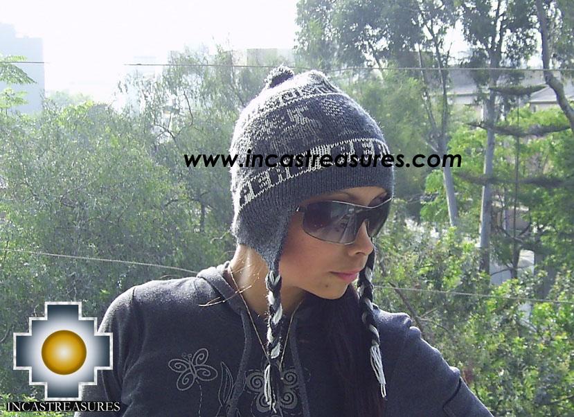 Alpaca Wool Hat Clasic design Peru Yana